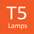 Luminaire has T5 Lamps