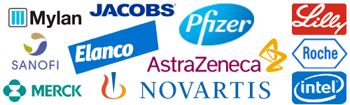 Pharma customer logos
